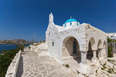 White Church in Parikia, Paros island — Stock Photo