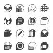Silhouette Business and office icons — Stockvectorbeeld