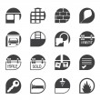 Silhouette Simple Real Estate icons — Stock Vector