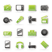 Media and technology icons — Stock Vector