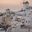 Stock Photo: Sunset in Town of Oia, Santorini