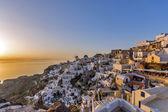 Sunset in Town of Oia, Santorini — Stock Photo
