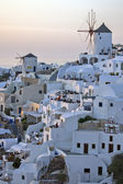 Sunset in Town of Oia, Santorini — Foto de Stock