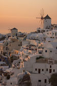 Sunset in Town of Oia, Santorini — Photo
