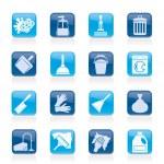 Очистка и гигиена иконки — Cтоковый вектор #38263571