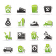 Garbage and rubbish icons — Stock Vector #39153665