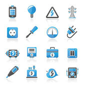 Electricity,power and energy icons — Stock Vector