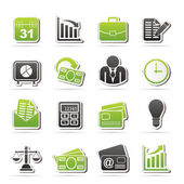 Icone di affari e ufficio — Vettoriale Stock