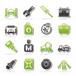 Car parts and services icons — Stock Vector #39603413