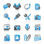 Chat Application and communication Icons — Stock Vector