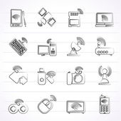 Wireless and communications icons — Stock Vector