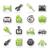 Car parts and services icons — Vecteur