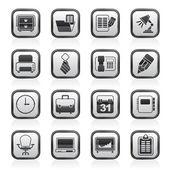 Icônes d'équipement entreprise et bureau — Vecteur