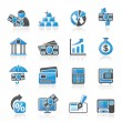Bank, business and finance icons — Stock Vector