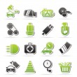 Car parts and services icons — Stock Vector #40437515