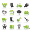 Stock Vector: Agriculture and farming icons