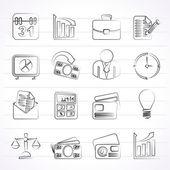 ícones de negócios e escritório — Vetor de Stock