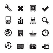 Silhouette Internet and Web Site Icons — Stock Vector
