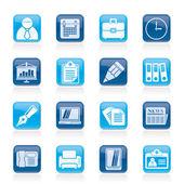 Bedrijf en kantoor pictogrammen — Stockvector