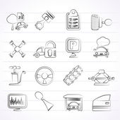 Car parts and services icons — ストックベクタ