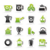 Different types of coffee industry icons — Stock Vector