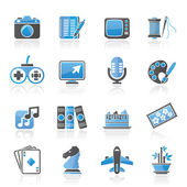 Hobbies and leisure Icons — Stock Vector