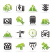 Stock Vector: Map, navigation and Location Icons