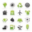Ecology, nature and environment Icons — Stock Vector