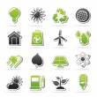 Stock Vector: Ecology, nature and environment Icons