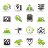 Map, navigation and Location Icons — Stock Vector