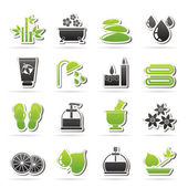 Spa and relax objects icons — Stock Vector