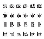 Silhouette 24 Business, office and website icons — Stockvektor