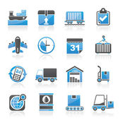 Logistic and Shipping icons — Stock Vector