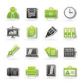 Ikon biurowych i biznesowych — Wektor stockowy