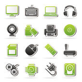 Computer peripherals and accessories icons — Stock Vector