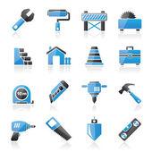 ícones de construção civil — Vetor de Stock
