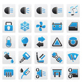 Car interface sign and icons — Stock Vector
