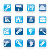 Building and construction icons — Stock Vector
