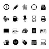 Silhouette Business and Office tools icons — Stock Vector