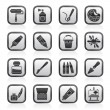 Painting and art object icons — Stock Vector