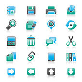Internet Interface Icons — Stock Vector