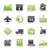Logistic and Shipping icons — Stockvektor