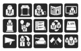 Silhouette Politics, election and political party icons — Stok Vektör