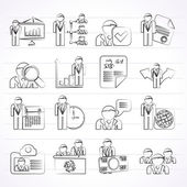 Human resource and employment icons — Vector de stock