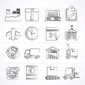 Logistic and Shipping icons — Vecteur