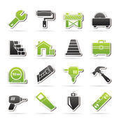 Building and construction icons — Vettoriale Stock