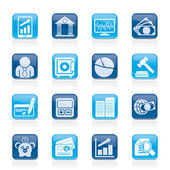 Business, finance and bank icons — Stockvector