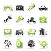 Car service maintenance icons — Stock Vector