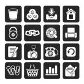 Silhouette Website and internet icons — Stockvektor