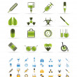 Collection of medical themed icons and warning-signs — Stock Vector #5028003